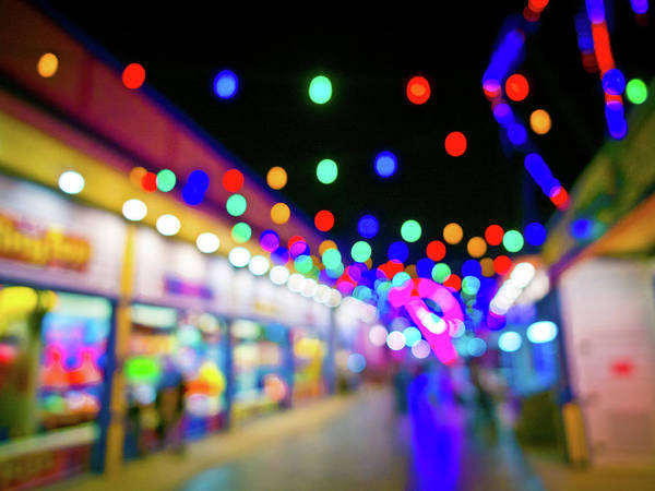 Carnies Photograph - Dancing Lights by Linda Unger