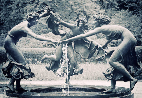 Water Fountain Photograph - Dancing Maidens by Jessica Jenney