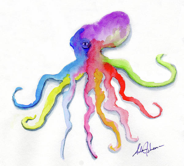 Painting - Dancing Octopus by Adam Johnson