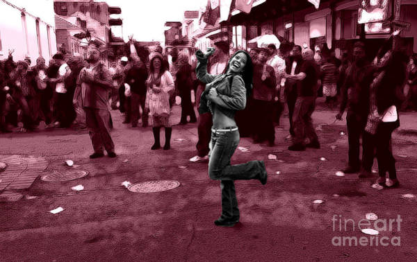 Wall Art - Digital Art - Dancing On Bourbon Street by John Rizzuto