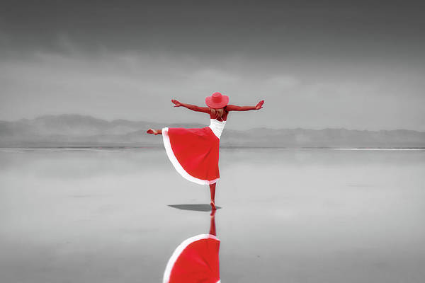 Dress Form Photograph - Dancing On The Beach by Pixabay