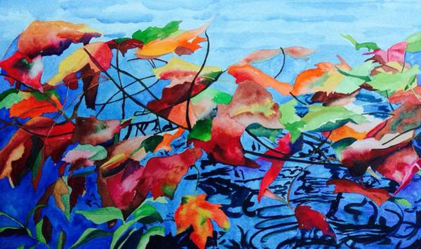 Art Print featuring the painting Dancing Over Water by Patti Ferron