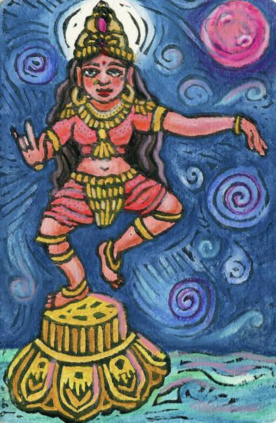 Sacred Mixed Media - Dancing Parvati by Jennifer Mazzucco