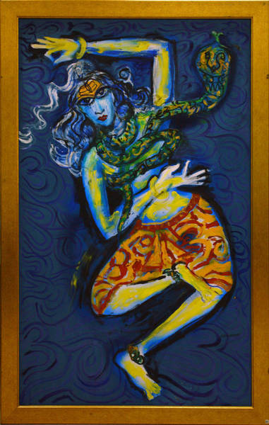 Painting - Dancing Shiva by Guruji Aruneshvar Paris Art Curator Katrin Suter