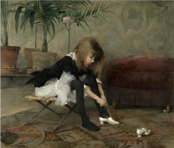 Wall Art - Painting - Dancing Shoes by Helene Schjerfbeck