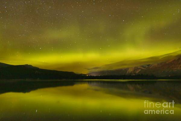 Photograph - Dancing Skies Over Edith Lake by Adam Jewell