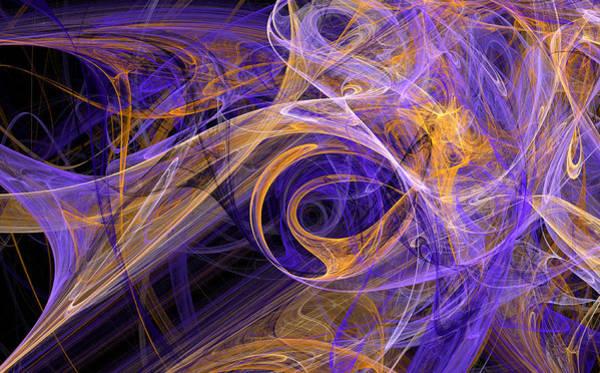 Bouncy Digital Art - Dancing Smoke by Brainwave Pictures
