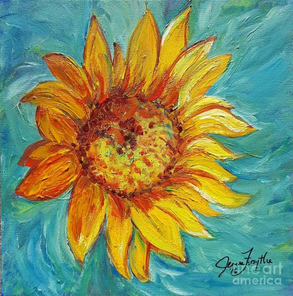 Photograph - Dancing Sunflower  by Jeanne Forsythe