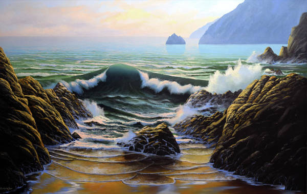 Wave Breaking Painting - Dancing Tide by Frank Wilson