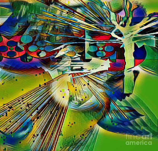 Digital Art - Dancing Under The Mapletree by Diana Mary Sharpton