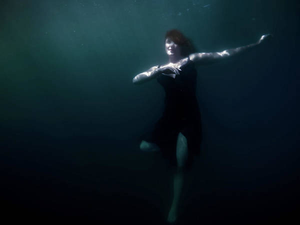 Beautiful Woman Wall Art - Photograph - Dancing Under The Water by Nicklas Gustafsson