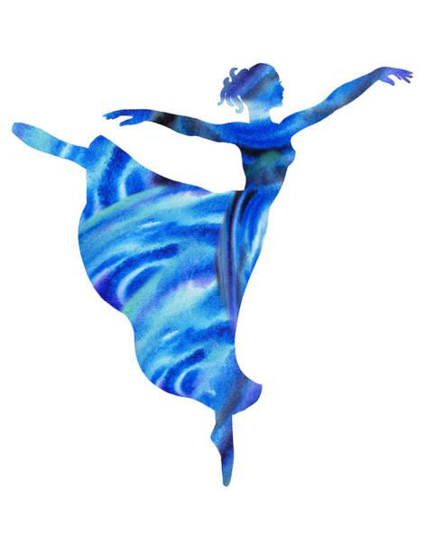 Painting - Dancing Water Arabesque Ballerina by Irina Sztukowski