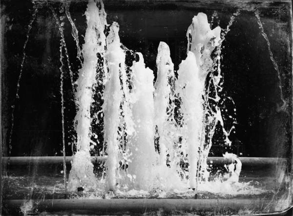 Photograph - Dancing Waters B/w by Deborah Kunesh