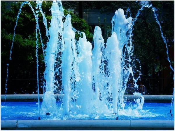 Dancing Waters Blue Art Print