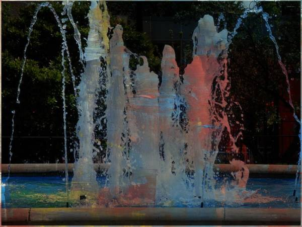 Photograph - Dancing Waters Kaleidoscope by Deborah Kunesh