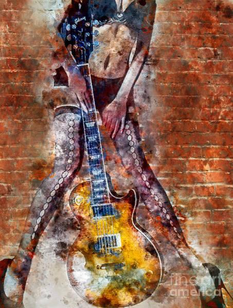 Guitar Neck Photograph - Dancing With Les Paul by Jon Neidert