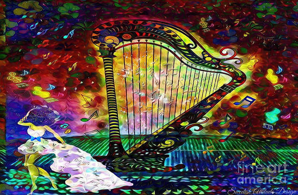 Digital Art - Dancing With The Harp by Swedish Attitude Design