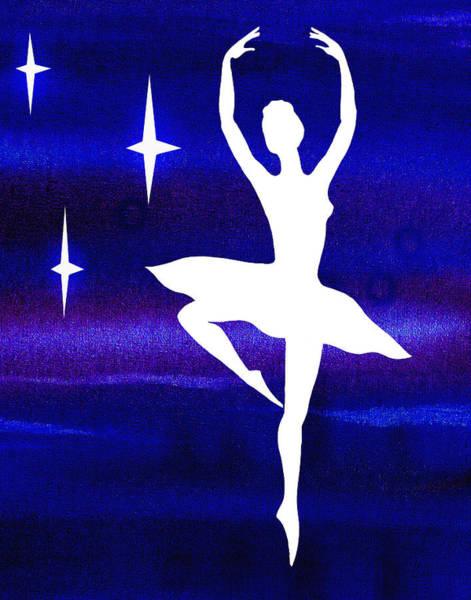 Girly Painting - Dancing With The Stars Ballerina by Irina Sztukowski