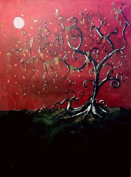 Painting - Dancing Wood by Carole Hutchison