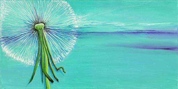 Wall Art - Painting - Dandelion #2 by David Junod