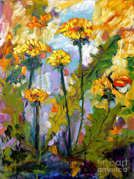 Painting - Dandelions by Ginette Callaway