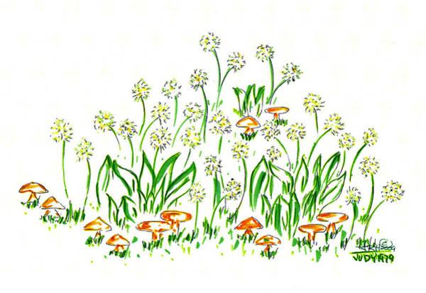 Dandelions In The Breeze Art Print