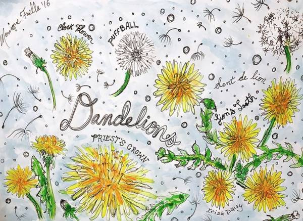 Painting - Dandelions by Monique Faella