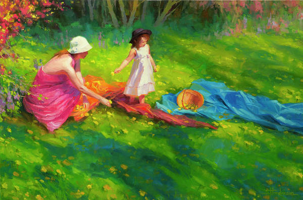 Parent Painting - Dandelions by Steve Henderson