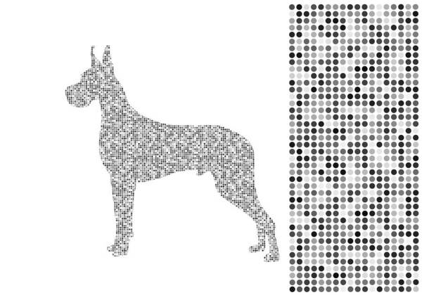Digital Art - Dane Dots Black And White by Brian Kirchner