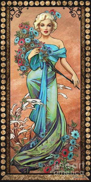 Alfons Mucha Painting - Danella Students 1 Creme by Theo Danella