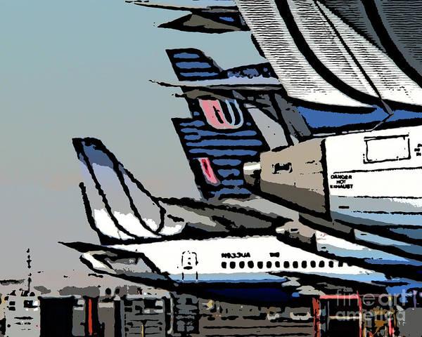 United Airlines Wall Art - Photograph - Danger-hot Exhaust by David Bearden