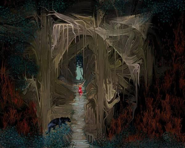 Digital Art - Danger In The Forrest by Tony Rodriguez