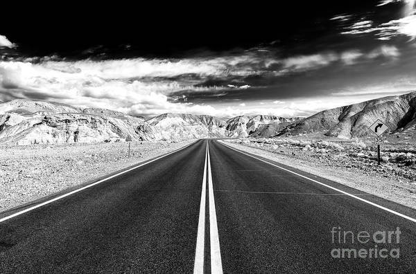 Photograph - Danger Road At Death Valley by John Rizzuto