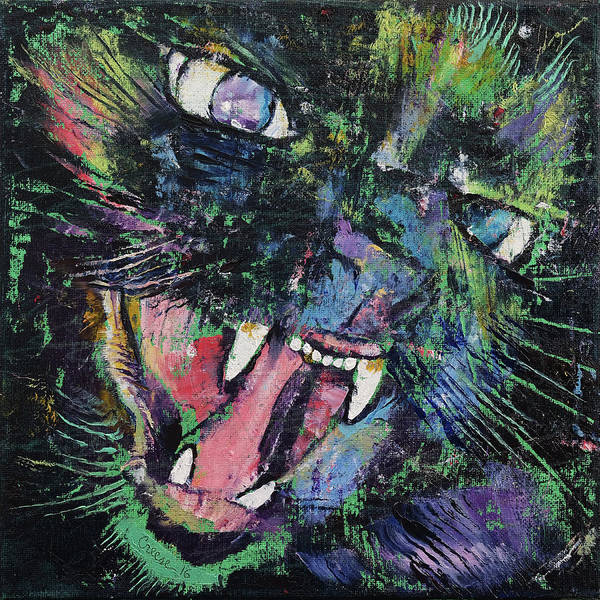 Growling Wall Art - Painting - Ferocious by Michael Creese