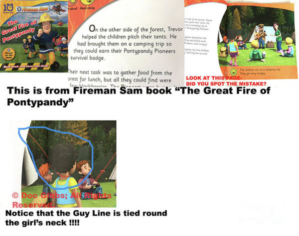 Photograph - Dangerous Mistake Found In Fireman Sam Book - Doc Gibbs - All Rights Reserved. by Doc Braham