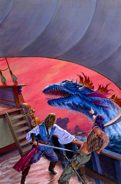 Mages Painting - Dangerous Seas by Richard Hescox