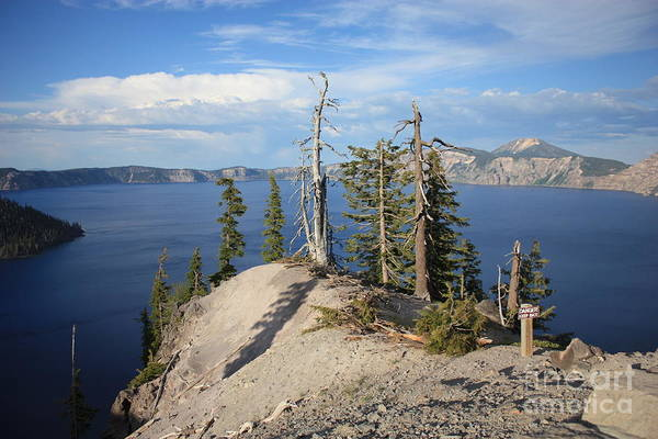 Photograph - Dangerous Slope At Crater Lake by Carol Groenen