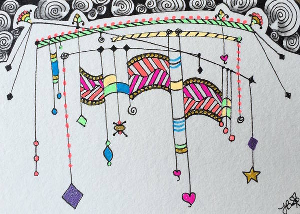 Drawing - Dangles And Such by Jan Steinle