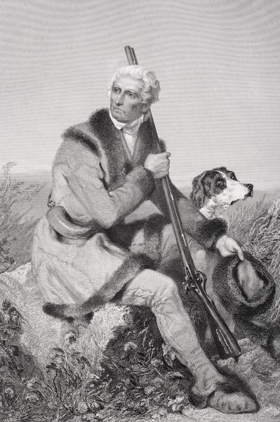 Alonzo Drawing - Daniel Boone 1734-1820. American by Vintage Design Pics