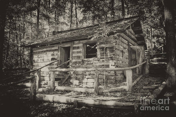 Photograph - Daniel Boone Cabin by Paul W Faust -  Impressions of Light