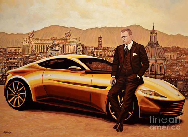Roma Wall Art - Painting - Daniel Craig As James Bond by Paul Meijering