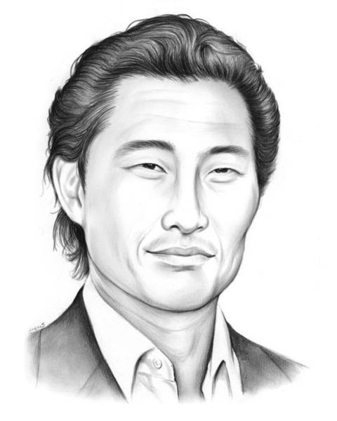 Wall Art - Drawing - Daniel Dae Kim by Greg Joens