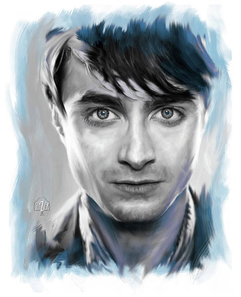 Wall Art - Digital Art - Daniel Radcliffe As Harry Potter by Garth Glazier