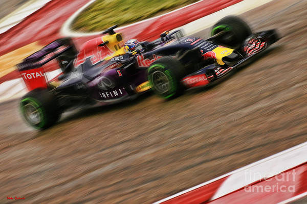 Photograph - Daniel Ricciardo 2015 Redbull by Blake Richards