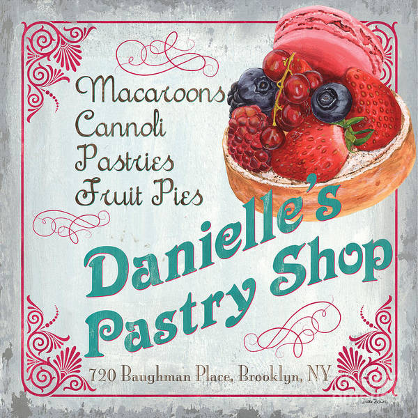 Wall Art - Painting - Danielle's Pastry Shop by Debbie DeWitt