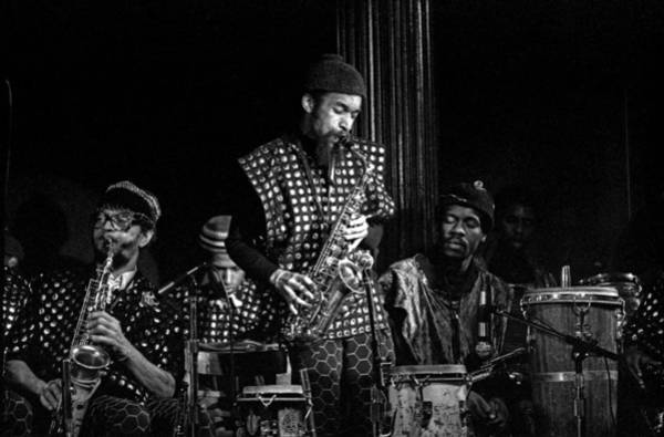 Photograph - Danny Davis With Sun Ra Arkestra by Lee Santa