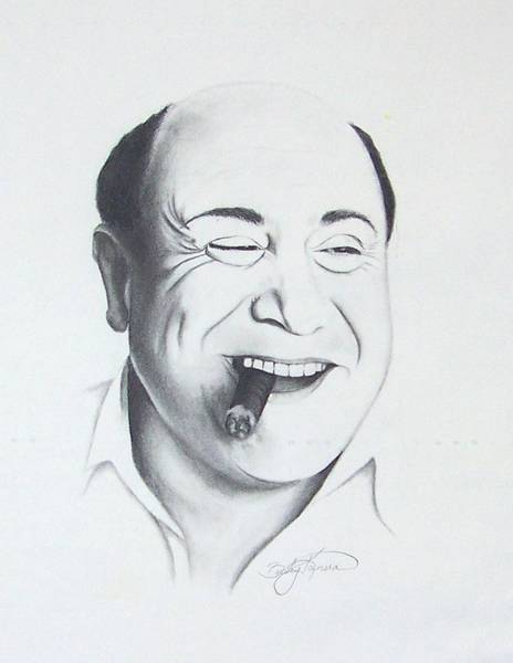 Danny Devito Wall Art - Drawing - Danny Devito by Rebecca Bellomo