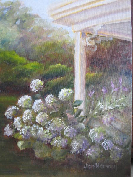 Wall Art - Painting - Dan's Front Porch by Jan Harvey