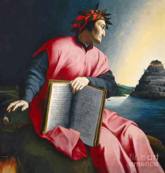 Wall Art - Painting - Dante by Florentine School