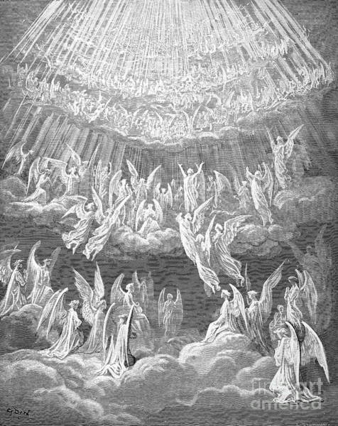 Drawing - Paradise by Gustave Dore